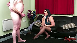 Bizarre video of a fat coxcomb jerking off for naughty unshaded Nicola Kiss